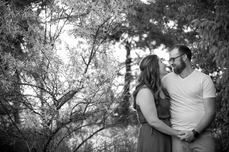 Amanda & Danny Black and white engagement photo by Collin Stumpf Photography