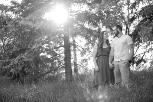 black and white engagement photograph with Amanda & Danny by Collin Stumpf Photography
