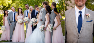 Sideview of bridal party and groomsman detail portrait