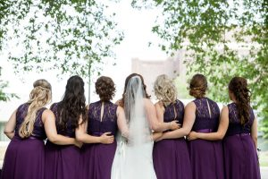 Brides and Bridesmaids backs