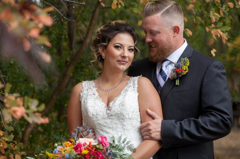 Bride and Groom Fall Portrait by Collin Stumpf Photography